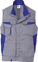 KÜBLER-Workwear-Arbeits-Berufs-Weste Image Dress New Design, MG 320, mittelgrau/kornblau