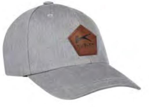 KÜBLER-Basecap mit Emblem, hellgrau