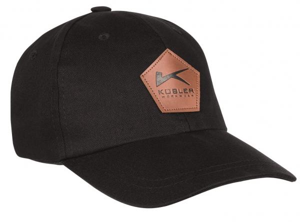 KÜBLER-Basecap mit Emblem, schwarz