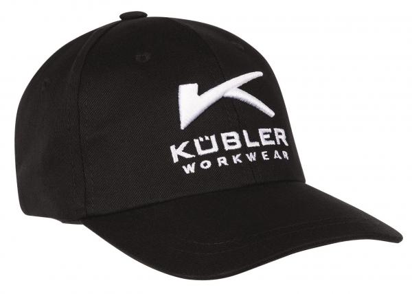 KÜBLER-Basecap mit Stickerei, schwarz