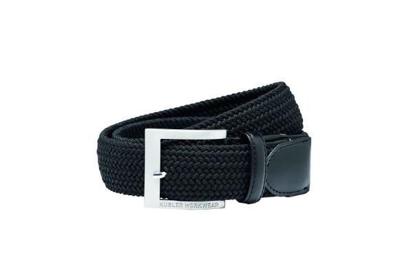 KÜBLER-Stretchgürtel mit Dorn-Schließe, schwarz