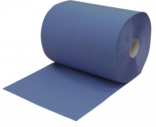 ZVG-zetPutz-Putz-Tücher / Putztuch-Rollen, Multiclean plus Rolle, blau, 3-lagig, ca. 500 Abrisse, VE: 2 Ro.