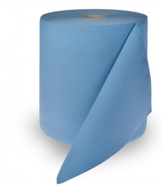 ZVG-zetPutz-Putz-Tücher / Putztuch-Rollen, Multiclean Putztuchrolle, blau, 3-lagig, ca. 1.000 Abrisse, VE: 1 Ro.