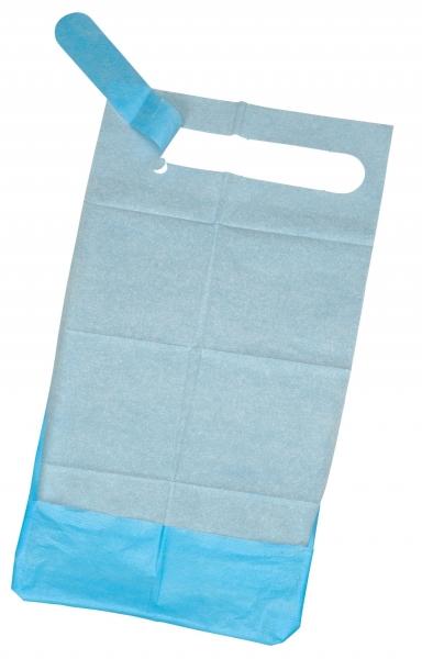 ZVG-zetMedica, Einweg-Einmal-UNISAN Care Lätzchen f Erwachsene, blau, VE = 1 Stück