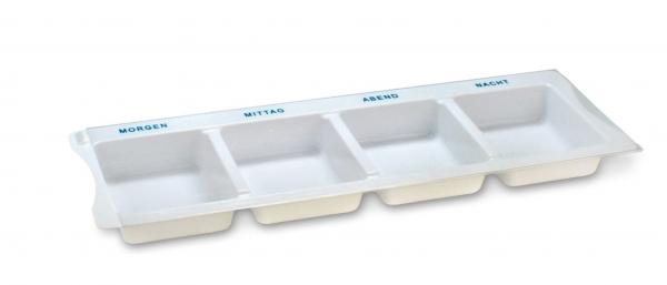 ZVG-zetMedica-Hygiene, Medikamenten-Dispenser XL in weiß, VE: 175 Stück (Karton) (7 x 25 Stück)