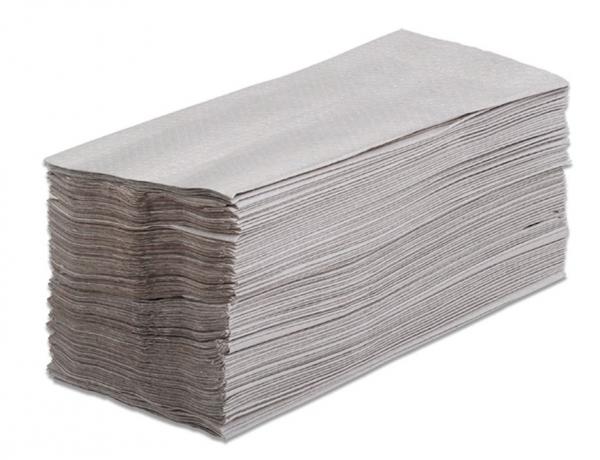 ZVG-zetPutz-Papier-Falt-Handtücher, natur, 1-lagig, VE: 1 Karton á 3.696 Tücher (24x154)