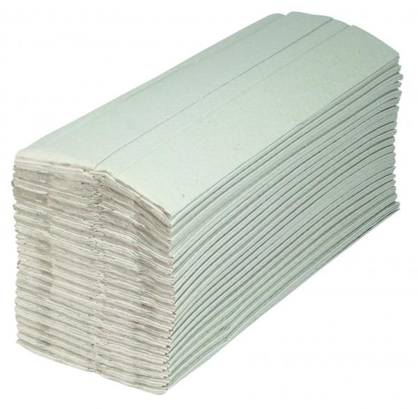 ZVG-zetPutz-Papier-Falt-Handtücher, natur, 1-lagig, VE: 1 Karton á 2.400 Tücher (20x120)