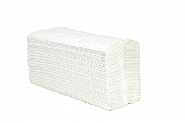 ZVG-zetPutz-Papier-Falt-Handtücher, weiß, 2-lagig, VE: 3.040 Tücher (20x152)