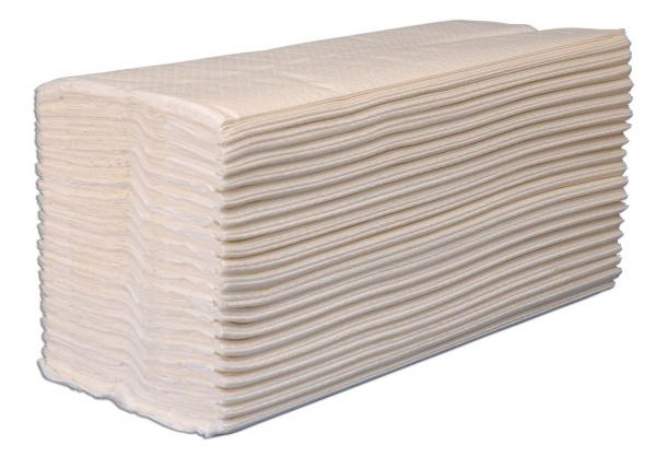 ZVG-zetPutz-Papier-Falt-Handtücher, hochweiß, Tissue 2-lagig, VE: 3.072 Tücher (24x128)