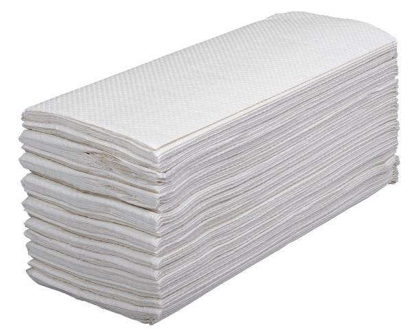 ZVG-zetPutz-Papier-Falt-Handtücher, hochweiß, Tissue 2-lagig, VE: 1.920 Tücher (20x96)