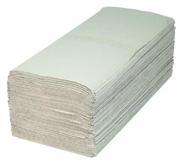 ZVG-zetPutz-Papier-Falt-Handtücher, natur, 1-lagig, VE: 4.000 Tücher (20x200)