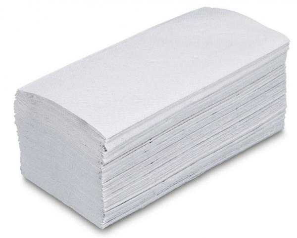 ZVG-zetPutz-Papier-Falt-Handtücher, hochweiß, 1-lagig, VE: 5.000 Tücher (20x250)