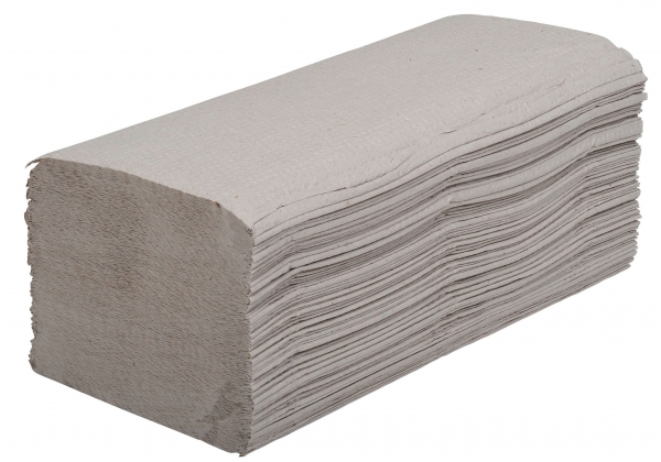 ZVG-zetPutz-Papier-Falt-Handtücher, natur, 1-lagig, VE: 4.600 Tücher (20x230)