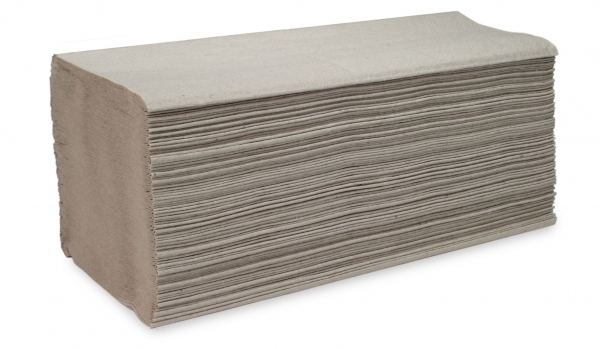 ZVG-zetPutz-Papier-Falt-Handtücher, natur, 1-lagig, VE: 5.000 Tücher (20x250)