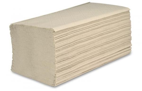 ZVG-zetPutz-Papier-Falt-Handtücher, natur, Tissue 2-lagig, VE: 3.200 Tücher (20x160)