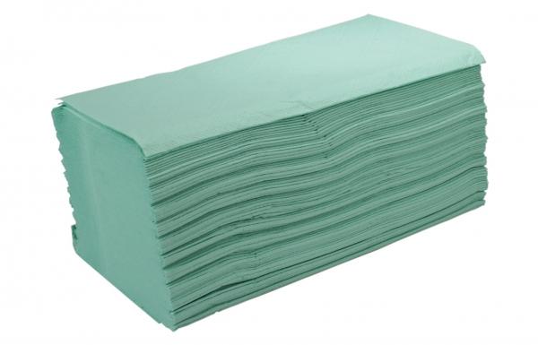 ZVG-zetPutz-Papier-Falt-Handtücher, grün, 2-lagig, VE: 3.200 Tücher (20x160)