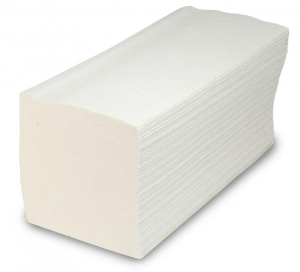 ZVG-zetPutz-Papier-Falt-Handtücher, weiß, Tissue 2-lagig, VE: 3.200 Tücher (20x160)
