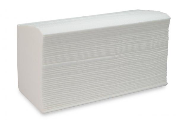 ZVG-zetPutz-Papier-Falt-Handtücher, hochweiß, Tissue 2-lagig, VE: 3.200 Tücher (20x160)
