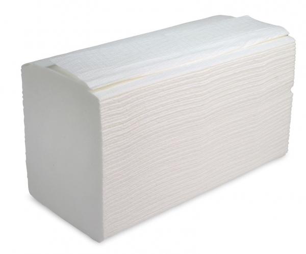 ZVG-zetPutz-Papier-Falt-Handtücher, hochweiß, Tissue 3-lagig, VE: 2.500 Tücher (20x125)