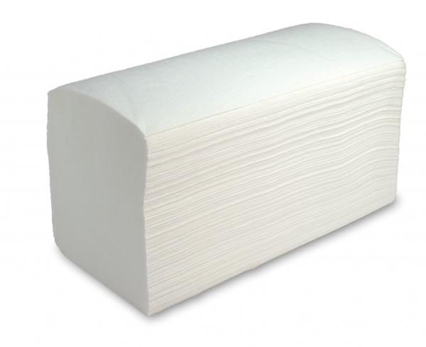 ZVG-zetPutz-Papier-Falt-Handtücher, hochweiß, Tissue 2-lagig, VE: 2.400 Tücher (20x120)