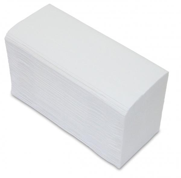 ZVG-zetPutz-Papier-Falt-Handtücher, hochweiß, Tissue 3-lagig, VE: 2.000 Tücher (20x100)
