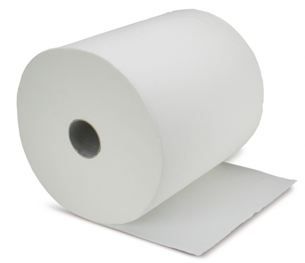 ZVG-zetPutz-Papier-Handtuch-Rolle, weiß, 2-lagig, VE: 6 Ro.