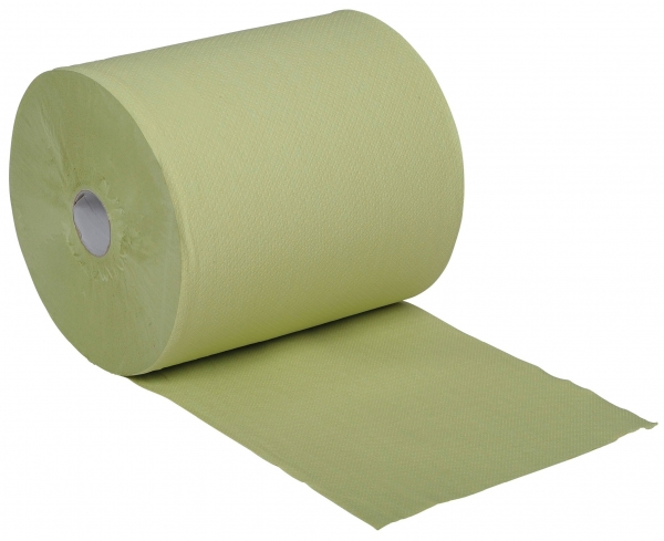 ZVG-zetPutz-Papier-Handtuch-Rolle, grün, 2-lagig, VE: 6 Ro.