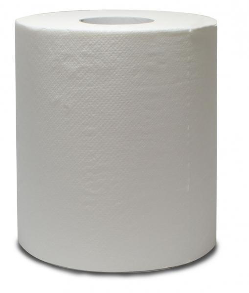 ZVG-zetPutz-Papier-Handtuch-Rolle, weiß, 2-lagig, ca. 450 Abrisse, VE: 6 Ro.