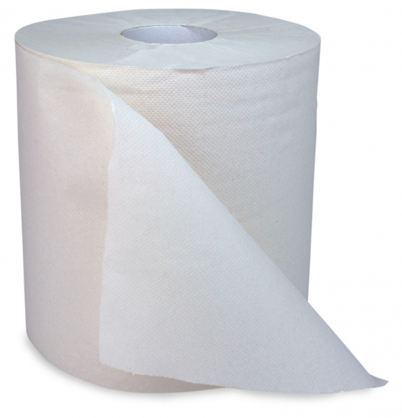 ZVG-zetPutz-Papier-Handtuch-Rolle, natur, 1-lagig, ca. 840 Abrisse, VE: 6 Ro.