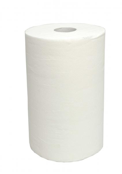 ZVG-zetPutz-Papier-Handtuch-Rolle, weiß, 2-lagig, ca. 210 Abrisse, VE: 8 Ro.