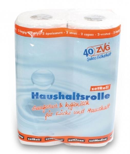 ZVG-zetPutz-Papier-Küchen-Rolle, Haushaltsrolle, Tissue 2-lagig, ca. 64 Abrisse, VE: 32 Ro.
