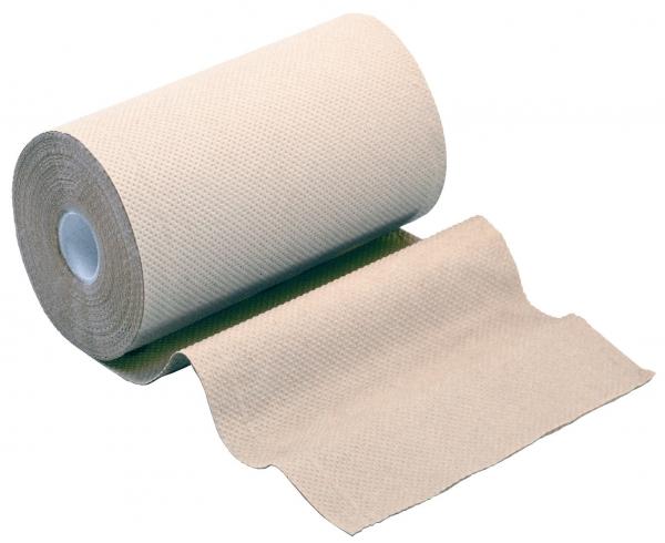 ZVG-zetPutz-Papier-Handtuch-Rolle, natur, 2-lagig, ca. 142 Abrisse, VE: 10 Ro.