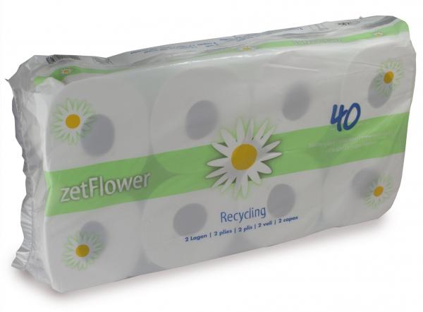 ZVG-zetPutz-Tissue-Toilettenpapier-Klein-Rolle, 2-lagig, ca. 400 Abrisse, VE: 48 Ro. (6x8)