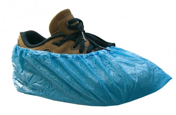 zetDress-Einweg-Überzieh-Einmal-Schuhe PE, blau