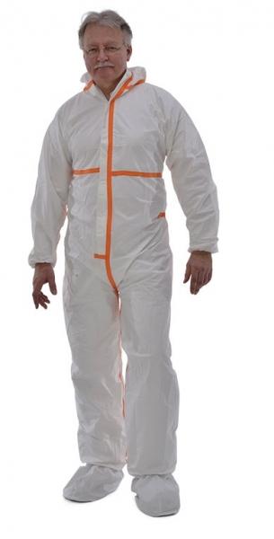 zetDress-Einweg-Bekleidung, Einmal-Schutz-Overall, Secutex, SL, weiß, VE: 25 Stück (einzeln v.)