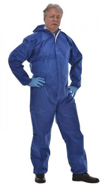 zetDress-Einweg-Schutz-Bekleidung, Einmal-Maler-Overall, Tritex Pro blau
