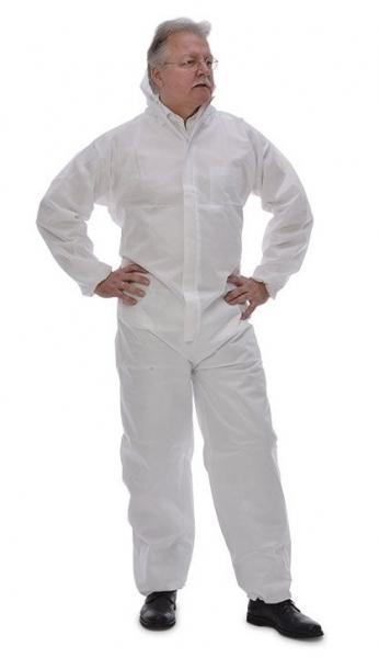 zetDress-Einweg-Schutz-Bekleidung, Einmal-Maler-Overall, Tritex Pro, weiß, VE = 25 Stück