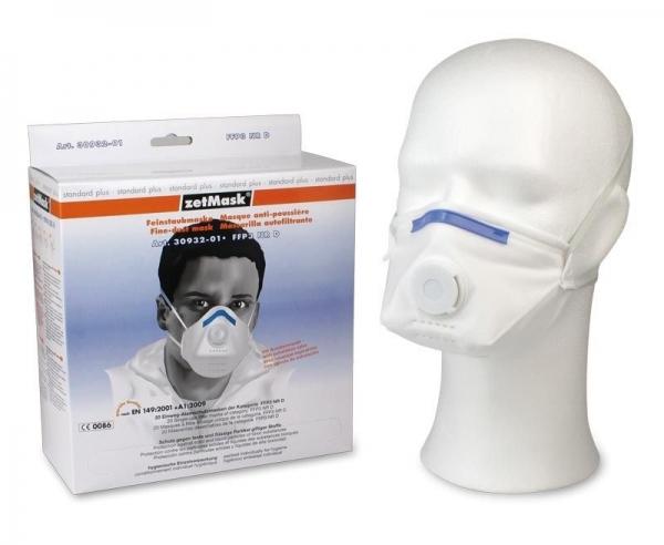 zetMask-PSA-Atem-Schutz, Einweg-Fein-Staub-Filter-Maske, FFP3, NR D, gefaltet, EN 149:2001, VE: 240 St. (12 x 20 St.)