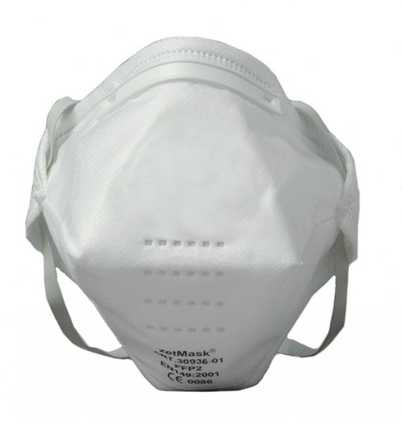 zetMask-PSA-Atem-Schutz, Einweg-Fein-Staub-Filter-Maske,  FFP2, NR D, gefaltet, EN 149:2001, VE: 240 St. (12 x 20 St.)