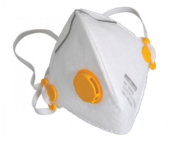 zetMask-PSA-Atem-Schutz, Einweg-Fein-Staub-Filter-Maske, FFP3D, mit Ventil, EN 149:2001, VE: 150 St. (10 x 15 St.))