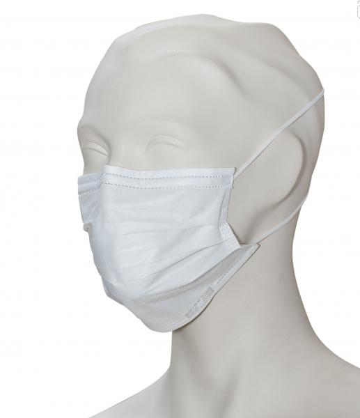 zetMask-Einweg-OP-Vlies-Einmal-Mundschutz, weiß, 3-lagig