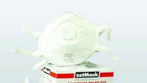 zetMask-PSA-Atem-Schutz-Maske, Einweg-Fein-Staub-Filter-Maske, FFP3, NR D, EN149:2001, VE: 60 Stück (12 x 5 St.)
