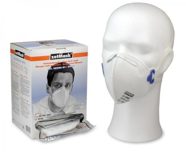 zetMask-PSA-Atem-Schutz, Einweg-Fein-Staub-Filter-Maske, FFP1 D, EN 149:2001, VE: 10 x 20 Stück
