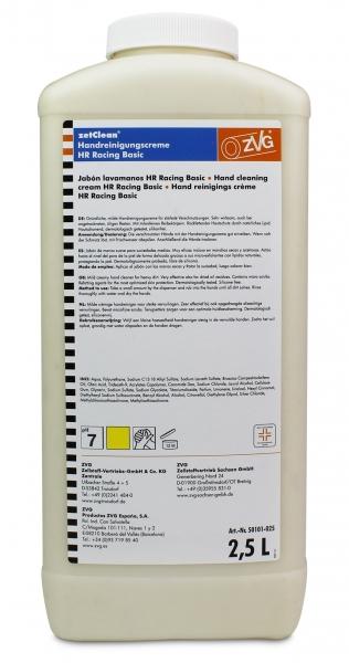 ZVG-zetClean-Hand-/Hände-Reiniger, Handreinigungscreme racing, VE: 6 Flaschen á 2,5 l