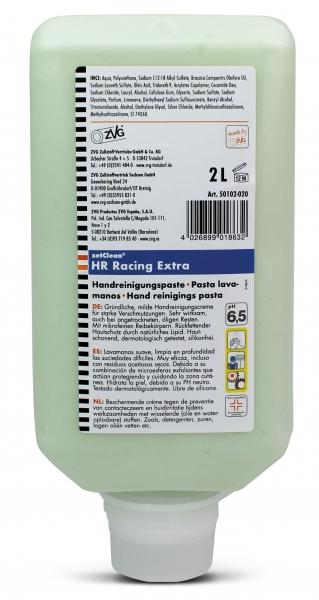 ZVG-zetClean-Hand-/Hände-Reiniger, Handreinigungspaste Racing extra, VE: 6 Flaschen á  2.000 ml