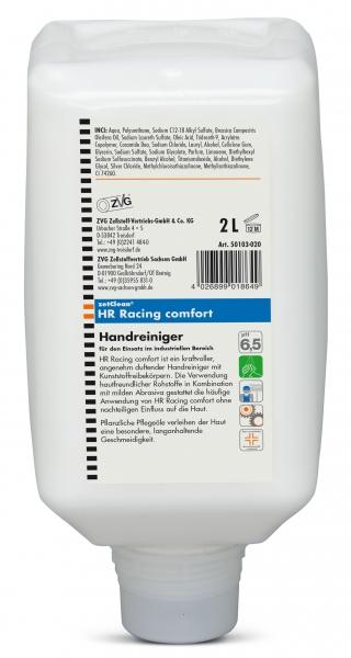 ZVG-zetClean-Hand-/Hände-Reiniger, Handreiniger Racing comfort, VE: 6 Flaschen á 2.000 ml