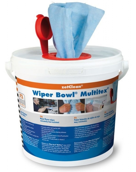 ZVG-zetPutz-Putz-Tücher / Putztuch-Rollen, Wiper Bowl Multitex im Spendereimer, feuchte Reinigungstücher, VE: 6 Eimer