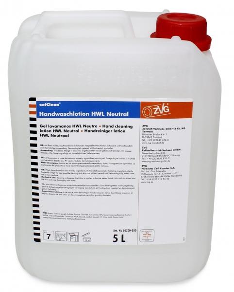 ZVG-zetClean-Hand-/Hände-Reiniger, Handwaschlotion NEUTRAL, weiß, VE: 5-l-Kanister