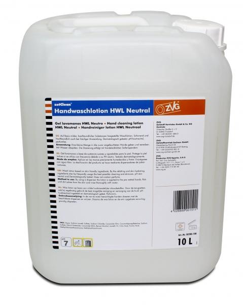 ZVG-zetClean-Hand-/Hände-Reiniger, Handwaschlotion NEUTRAL, weiß, VE: 10-l-Kanister