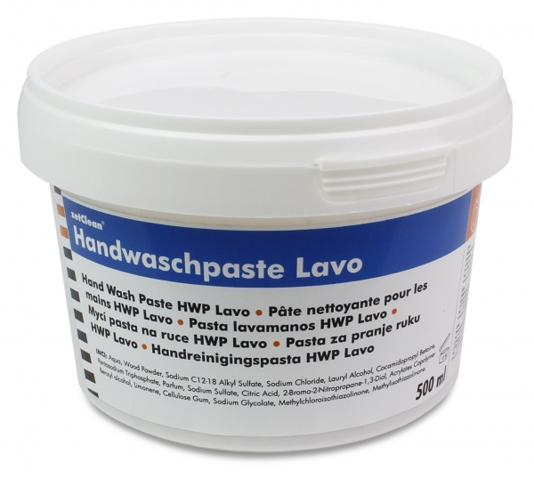 ZVG-zetClean-Hand-/Hände-Reiniger, Handwaschpaste LAVO, VE: 12 x 500-ml-Dose